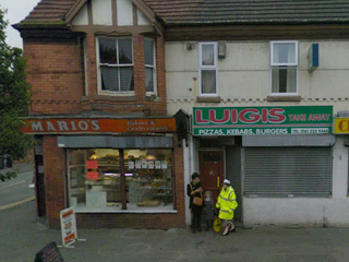 「パンとお菓子の店マリオ」「ピザとケバブの店ルイージ」