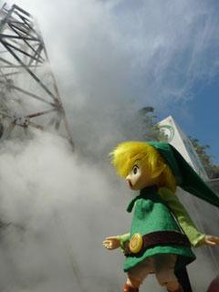 塔から蒸気
