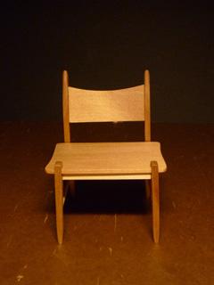 渋い木の椅子